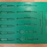 Frézovaná šablona na měřící přístroje - Continental Jičín