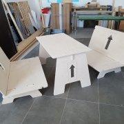 Frézování sestavitelného nábytku z překližky 15 mm