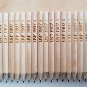 Laserové označení dřevěných tužek